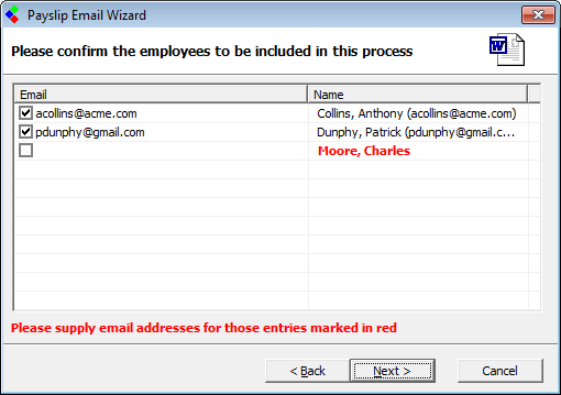 CollSoft Payroll Support HelpDesk - Emailing Payslips