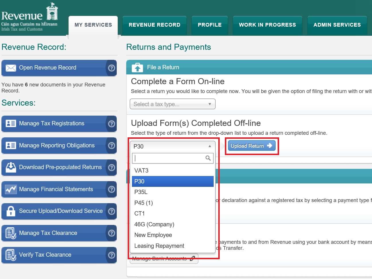 Collsoft payroll support helpdesk p30 submitting via ros.